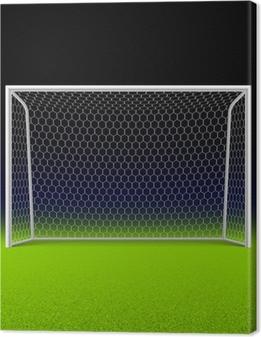 Obraz na płótnie Celem Piłka nożna na czarno