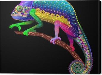 Obraz na płótnie Chameleon Fantasy Kolory tęczy