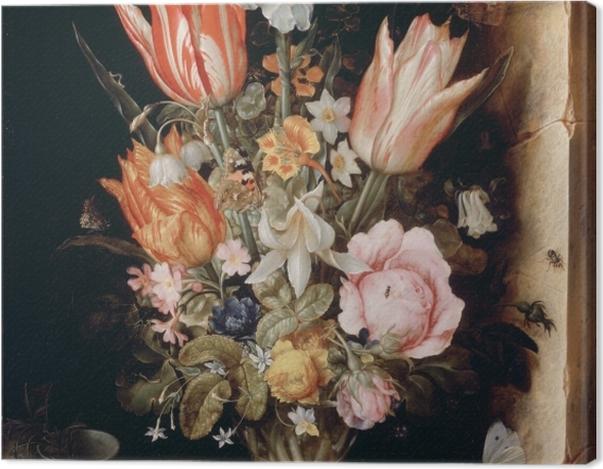 Obraz na płótnie Christoffel van den Berghe - Still Life with Flowers in a Vase - Reprodukcje