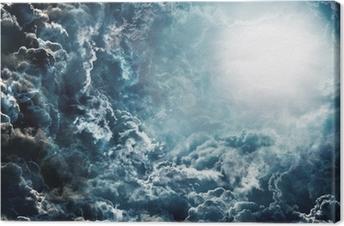Obraz na płótnie Ciemne niebo z księżycem