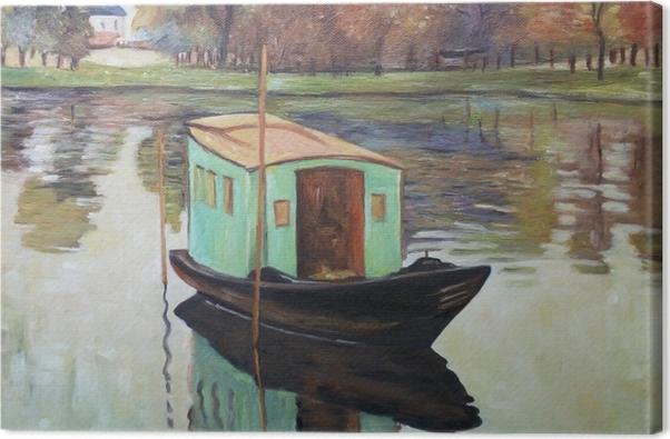 Obraz na płótnie Claude Monet - Atelier w łódce - Reprodukcje