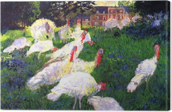 Obraz na płótnie Claude Monet - Białe indyki - Reprodukcje