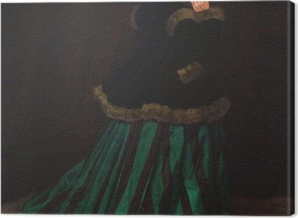 Obraz na płótnie Claude Monet - Camille. Kobieta w zielonej sukni. - Reprodukcje