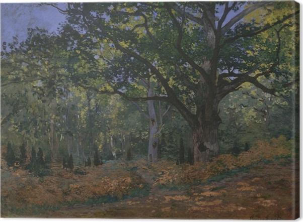 Obraz na płótnie Claude Monet - Dąb w okolicach Bas-Bréau - Reprodukcje
