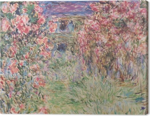 Obraz na płótnie Claude Monet - Dom wśród róż - Reprodukcje