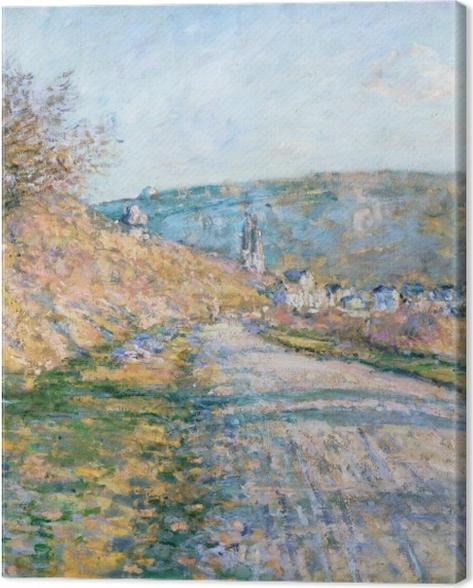 Obraz na płótnie Claude Monet - Droga w Vetheuil - Reprodukcje