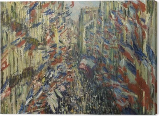 Obraz na płótnie Claude Monet - Flagi na ulicy Montorgueil - Reprodukcje