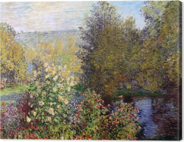 Obraz na płótnie Claude Monet - Fragment ogrodu w Montgeron - Reprodukcje