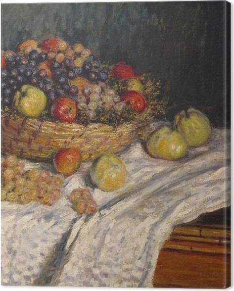 Obraz na płótnie Claude Monet - Jabłka i winogrona - Reprodukcje