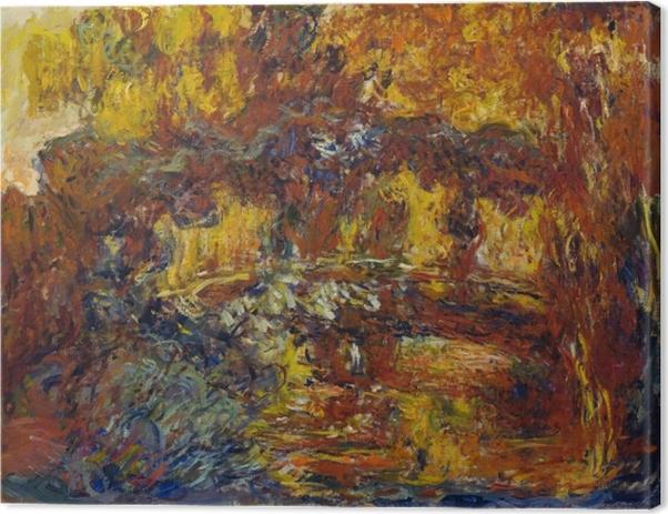 Obraz na płótnie Claude Monet - Japoński mostek - Reprodukcje