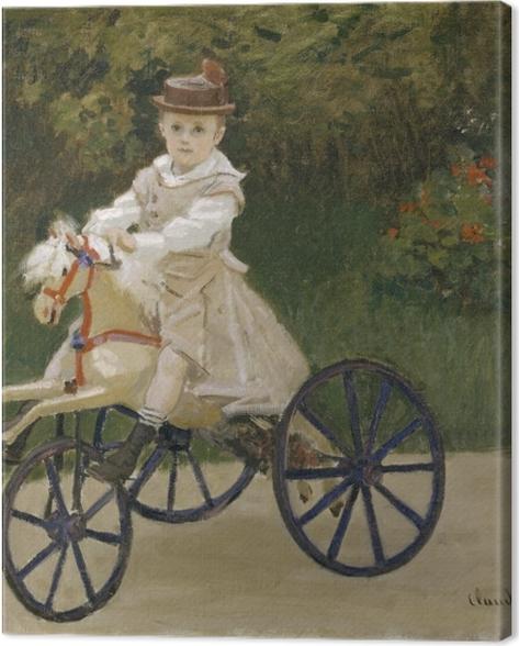 Obraz na płótnie Claude Monet - Jean Monet na koniku - Reprodukcje