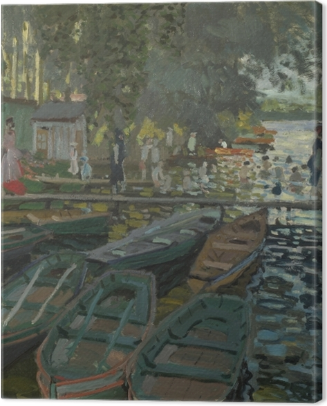Obraz na płótnie Claude Monet - Kąpielisko w La Grenouillere - Reprodukcje