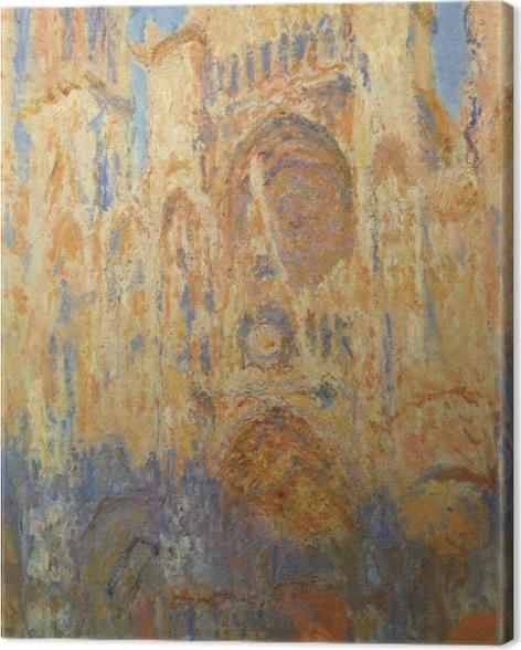 Obraz na płótnie Claude Monet - Katedra w Rouen w słońcu - Reprodukcje