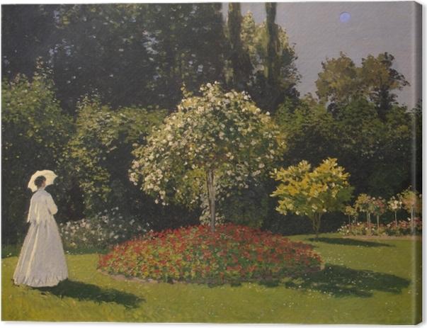 Obraz na płótnie Claude Monet - Kobieta w ogrodzie - Reprodukcje