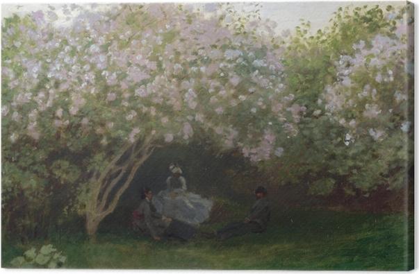 Obraz na płótnie Claude Monet - Krzaki bzu w pochmurny dzień - Reprodukcje