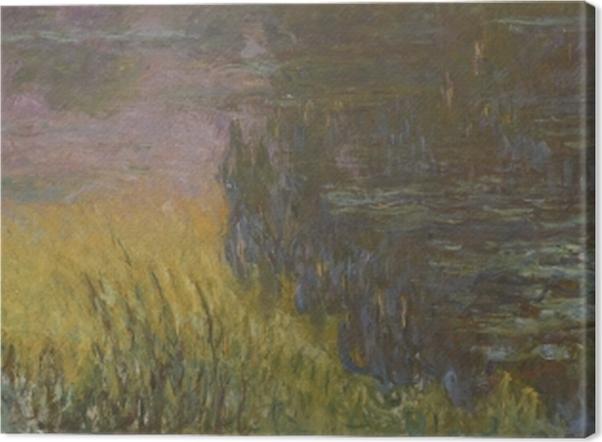 Obraz na płótnie Claude Monet - Lilie wodne o zachodzie słońca - Reprodukcje