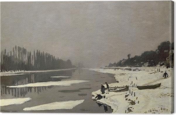 Obraz na płótnie Claude Monet - Lód na Sekwanie w Bougival - Reprodukcje