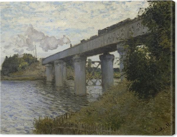 Obraz na płótnie Claude Monet - Most kolejowy w Argenteuil - Reprodukcje