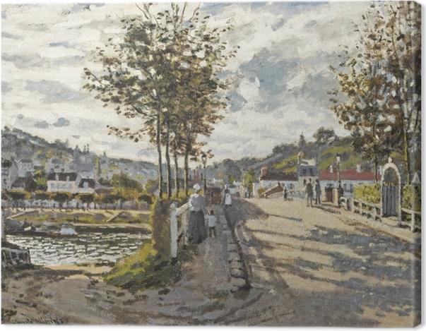 Obraz na płótnie Claude Monet - Most w Bougival - Reprodukcje