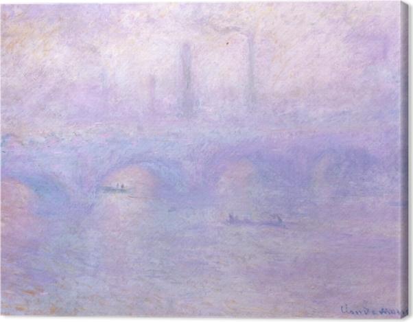 Obraz na płótnie Claude Monet - Most Waterloo we mgle - Reprodukcje