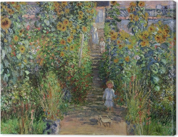 Obraz na płótnie Claude Monet - Ogród Moneta w Vetheuil - Reprodukcje