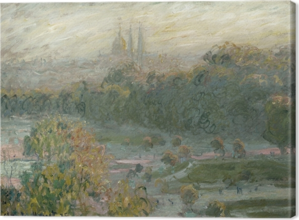 Obraz na płótnie Claude Monet - Ogrody Tuileries (studium) - Reprodukcje