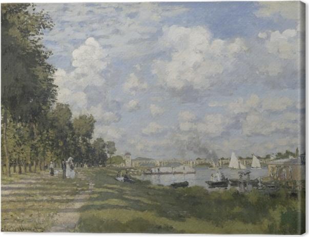 Obraz na płótnie Claude Monet - Przystań w Argenteuil - Reprodukcje