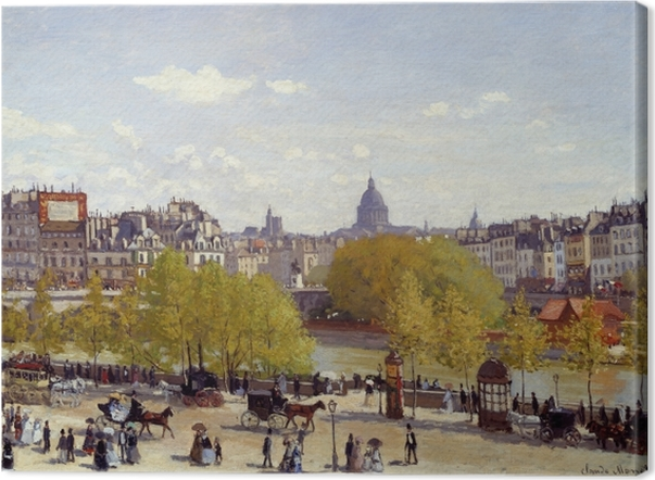 Obraz na płótnie Claude Monet - Quai du Louvre - Reprodukcje