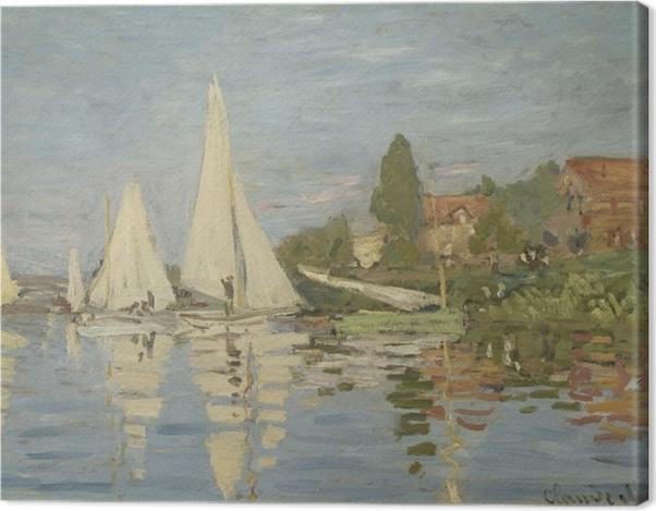 Obraz na płótnie Claude Monet - Regaty w Argenteuil - Reprodukcje