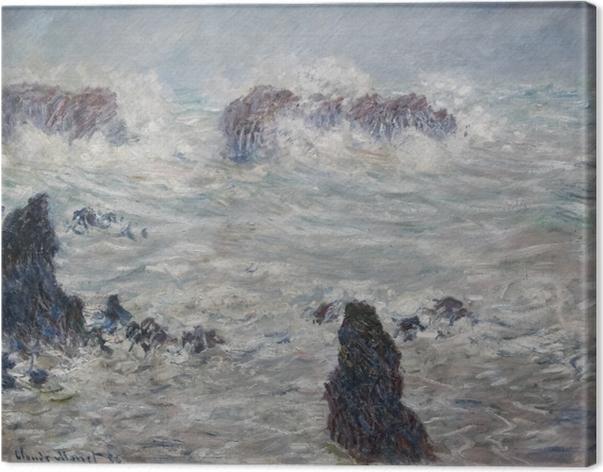Obraz na płótnie Claude Monet - Sztorm u wybrzeży Belle-Ile - Reprodukcje