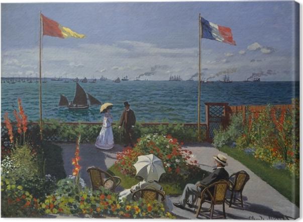 Obraz na płótnie Claude Monet - Taras nad morzem w Sainte-Adresse - Reprodukcje