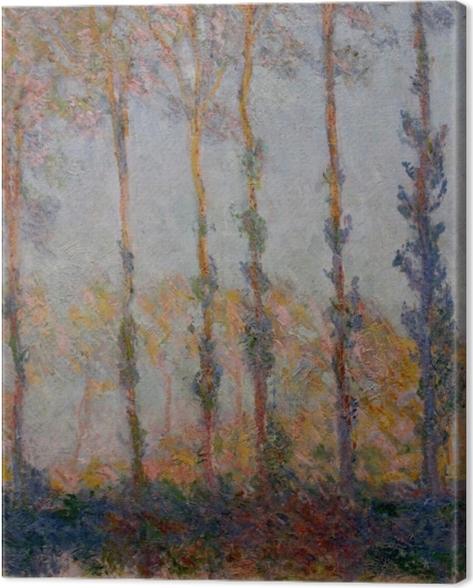 Obraz na płótnie Claude Monet - Topole nad rzeką Epte - Reprodukcje