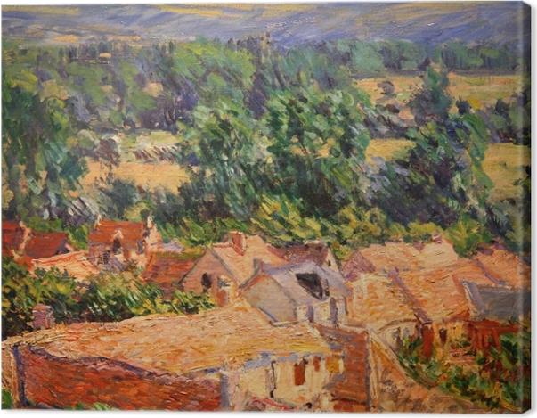Obraz na płótnie Claude Monet - Widok na Giverny - Reprodukcje