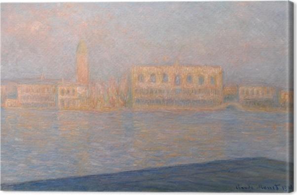 Obraz na płótnie Claude Monet - Widok na pałac Dożów z San Giorgio Maggiore - Reprodukcje