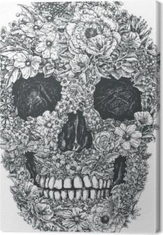 Obraz na płótnie Czaszki wektorowych kwiaty