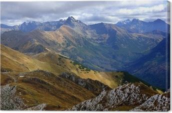 Obraz na płótnie Czerwone szczyty górskie, Tatry gór w Polsce