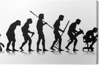 Obraz na płótnie Człowiek - ewolucja biznesu