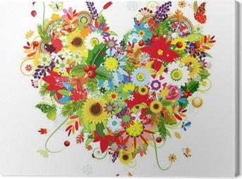 Obraz na płótnie Cztery pory roku. sztuki kształt serca dla swojego projektu