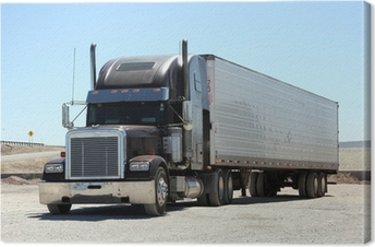 Obraz na płótnie Dalej ciężarówkami