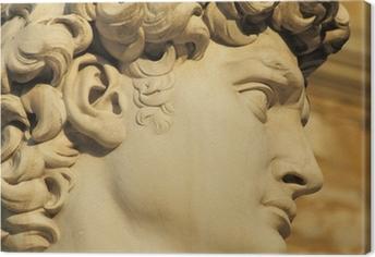 Obraz na płótnie Dawida głowa o zachodzie słońca, Florencja