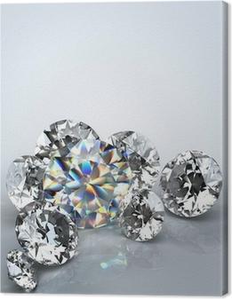 Obraz na płótnie Diamentu wyizolowanych