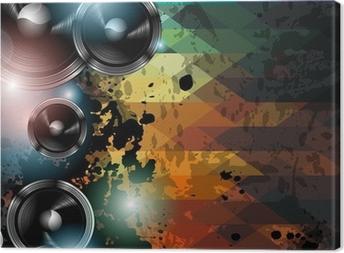 Obraz na płótnie Disco ulotka szablon klub. Abstract background używać do muzyki