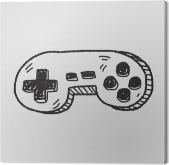 Obraz na płótnie Doodle kontroler gier