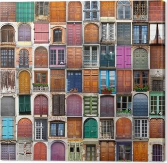 Obraz na płótnie Drzwi i okna, collage