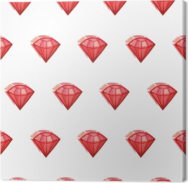 Obraz na płótnie Duży czerwony rubin - Naklejki Sztuka