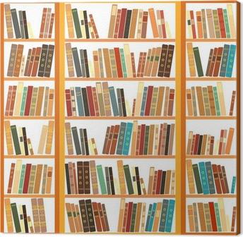 Obraz na płótnie Duży regał z różnych książek