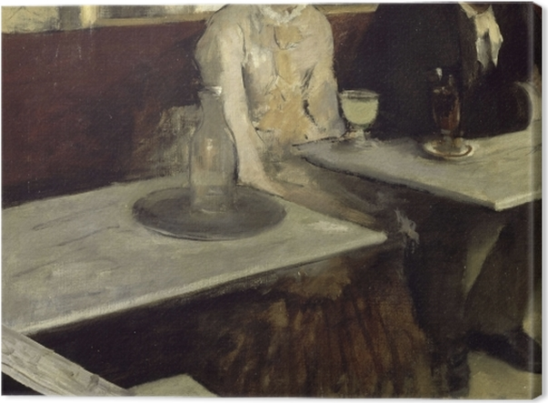 Obraz na płótnie Edgar Degas - Absynt - Reprodukcje