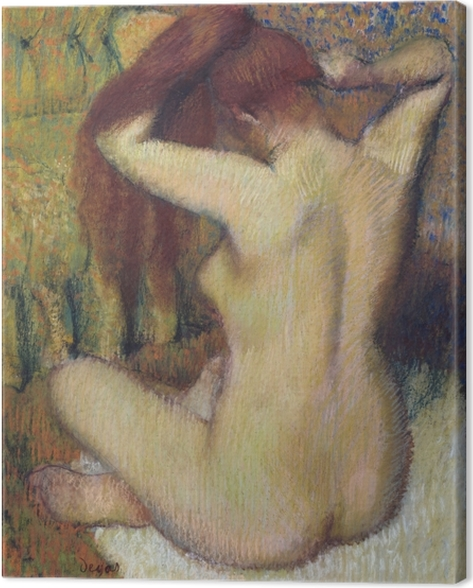 Obraz na płótnie Edgar Degas - Czesząca się kobieta - Reprodukcje