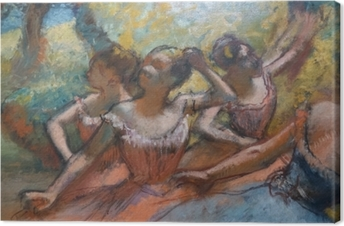 Obraz na płótnie Edgar Degas - Cztery tancerki na scenie