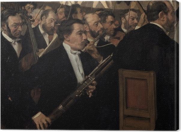 Obraz na płótnie Edgar Degas - Orkiestra Opery Paryskiej - Reprodukcje